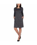 Nicole Miller Ladies' ¾ Sleeve Dress Grey Leopard - $39.99