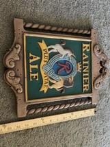 "Vintage ""RAINIER ALE"" Sicks Rainier Brewing Co Beer Sign Unicorn Lion Se... - $123.75"
