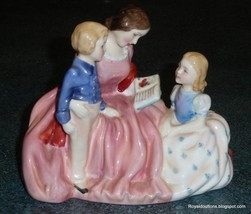 """The Bedtime Story"" HN2059 Royal Doulton Figurine Mom Reading To Childre... - $174.59"
