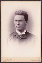Edward Henry Elwell Jr. Cabinet Photo University of Maine Class 1888 (Or... - $17.50