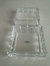 "AVON Square 24% Lead Crystal Keepsake Trinket Box 3.5""Jewelry-Rings-Coin... - $18.81"