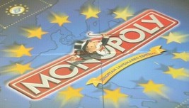 Monolopy European Landmark Edition Game 1992 Replacement Board Blue Gold... - $29.95
