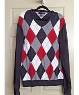 Tommy Hilfiger Mens Sweater Size 2XL V-Neck Pullover Argyle Cashmere Dia... - $29.19