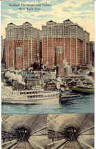 The Hudson Terminal and Tubes New York City Post Card - $6.00