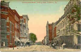 Cumberland Street Lebanon Pennsylvania vintage Post Card - $6.00