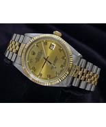 Champagne Arabic dial date just rolex mens watch  - $3,615.00