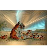 Tiger and Cubs (Dufex Foil Print #654029) - $4.99