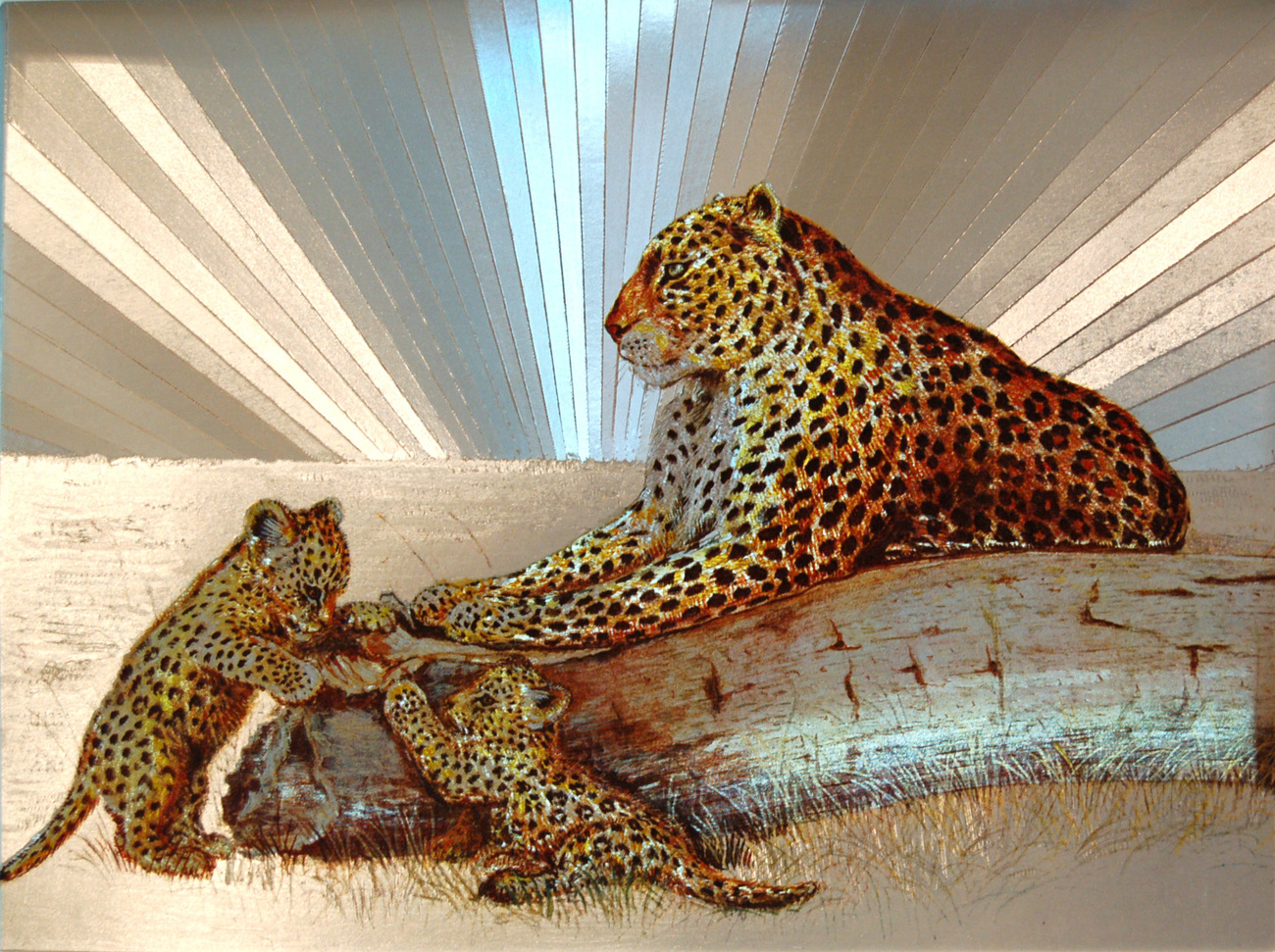 654431 cheetah and cubs