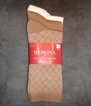Merona Classic Crew Socks 3 Pair Diamond Plaid Camel Brown Ivory Women C... - $6.00