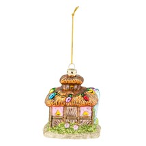 Beach Bungalow Christmas Holiday Ornament Glass - $27.76