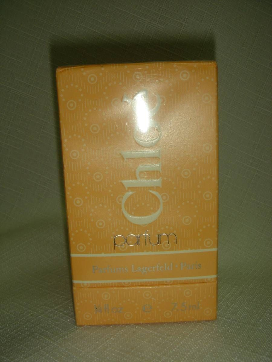 Vintage Chloe Parfum 25oz Karl Lagerfeld Kl And 16 Similar Items
