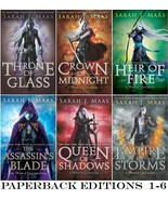 Young Adult THRONE OF GLASS Series by Sarah Maas PAPERBACK Collection Bo... - $63.99