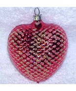 Red Heart - Vintage Glass Christmas Ornament NOS West Germany - $9.99