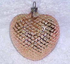 Gold Heart - Vintage Glass Christmas Ornament NOS West Germany NOS - $10.00