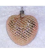 Gold Heart - Vintage Glass Christmas Ornament NOS West Germany - $10.99