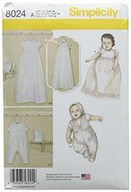 Simplicity Patterns Babies' Christening Sets with Bonnets Size: A (Xxs-Xs-S-M),  - $13.48