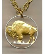 J&J Detailed Gold&Silver Cut-Out U.S.Copper Buffalo Nickel (1913-1938) N... - $46.48