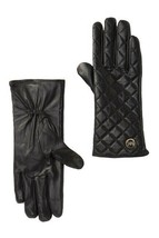 Michael Kors Quilted Leather Tech Gloves Black Large L NWT Retail $98 - $42.03