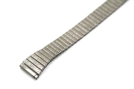 11-14MM EXTRA LONG SILVER STAINLESS STEEL TAPERED EXPANSION WATCH BAND S... - $19.79