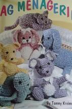 Rag Menagerie, rag rug fabric animals crochet patterns: dog cat bear bun... - $29.07