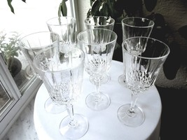 Set of 7 Crystal Water Goblets - $37.62