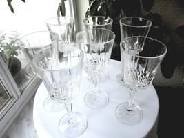 Set of 7 Crystal Water Goblets - $37.62