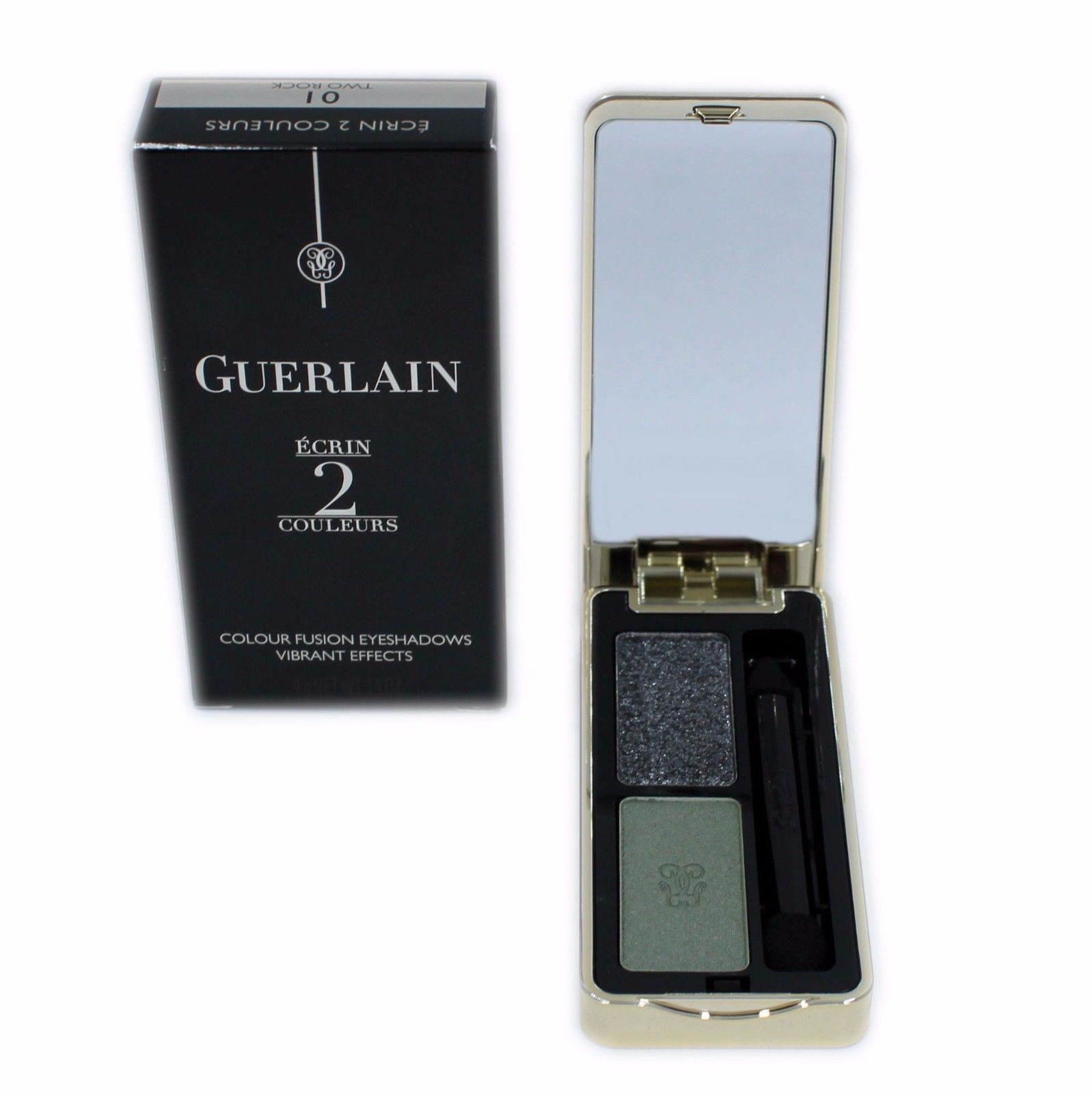 Primary image for GUERLAIN ECRIN 2 COULEURS COLOUR FUSION EYESHADOWS EFFETS VIBRANTS 4G #01-G41387