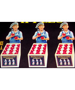 Patriotic Triplets! Repetition Crate Label, 1930's  - £3.56 GBP