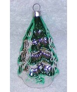 Vintage Glass TREE Christmas Ornament - West Germany - $5.99
