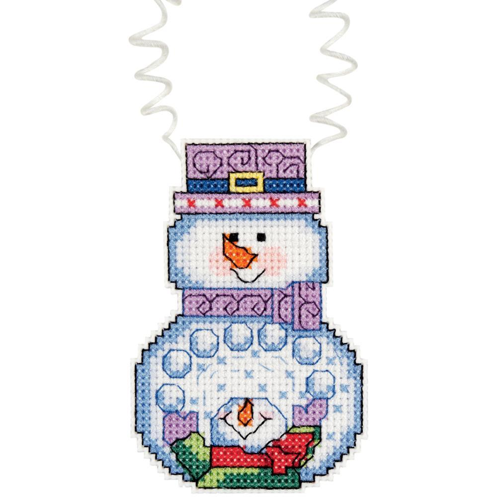 Snowman with snowballs