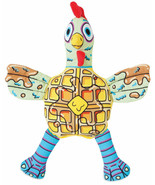 Chicken N Waffles Fat Cat Foodies for Dog Toy soft squeaky food shaped - £15.69 GBP