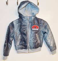 Marvel Ultimate Spiderman Boys Hooded Jacket Size XSmall 4-5 VGUC - $10.08