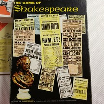 1966 Avalon Hill #800 Game Of Shakespeare Book Shelf Game Complete - $39.55