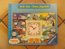Tell The Time Thomas The Tank Engine 60 Pc Jigsaw Puzzle Movable Clock Hands - $14.81