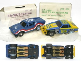 1977 Ideal Ford Pantera GTS & Mustang Rat TCR Slot Cars - $44.54