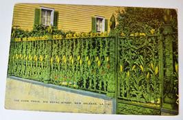Louisiana LA News Orleans Corn Fence Postcard Old Vintage  - $2.99