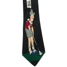 Hallmark Special Ties MMG Group 18th Hole Golf Men's Necktie Novelty Black - $10.89