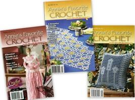 Lot of 3 Annie's Favorite Crochet No. 112, 115, 116 Tassel Lady, Beaded ... - $7.95