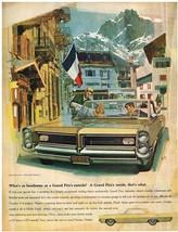 Vintage 1964 Magazine Ad Pontiac Crisply Sculptured Styling That Says Grand Prix - $5.93