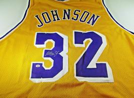 MAGIC JOHNSON / NBA HALL OF FAME / AUTOGRAPHED L.A. LAKERS CUSTOM JERSEY / COA image 1