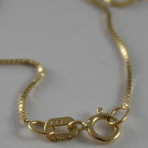 18K YELLOW GOLD CHAIN MINI 0.7 MM VENETIAN SQUARE LINK 15.75 INCH. MADE IN ITALY image 3