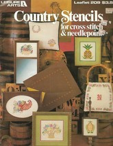 Country Stencils for Needlepoint & Cross Stitch Leisure Arts 209 1981 - $7.91