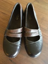 Clarks Bendables Mary Janes, Size 9, Brown, Flats,   EUC  S9 - $30.46
