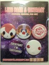 """Kadoka Magica Button Pin Set """"Let's Make a Contact"""" Corpse Cutie - $6.99"""