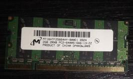 Micron 2GB 2Rx8 PC2-6400S-666-13-ZZ 204pin NON-ECC SO-DIMM Laptop Memory - $9.89