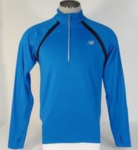 New Balance NB Dry NB Heat Blue 1/2 Zip Long Sleeve Running Shirt Men's NWT - $56.24