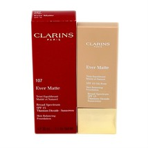 Clarins Ever Matte Skin Balancing Foundation SPF-15 Sunscreen 30ML #107 - Beige - $42.08