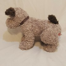 "Dog Puppy Plush Stuffed Animal 10"" Ty 2005 Curly Fur Gray Brown - $18.89"