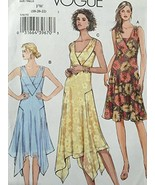 Vogue Sewing Pattern 8070 Misses Lined Dress Size FW 18-20-22 - $14.80