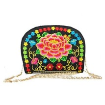Vintage Women Bags Floral Embroidery Canvas Messenger Shell Ethnic Clutc... - $12.99